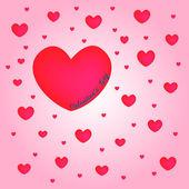 Röda hjärtan alla hjärtans dag — Stockfoto