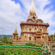 Stock Photo: WAT CHAITHARAM or Wat Chalong TEMPLE in Phuket thailand