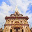 WAT CHAITHARAM or Wat Chalong TEMPLE in Phuket thailand — Stock Photo
