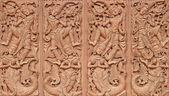 En bois sculpté de style thaïlandais — Photo