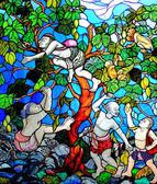 Thai kunst malerei auf gläsern — Stockfoto