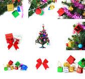 Ingericht voor gelukkig nieuwjaar kerstvakantie — Stockfoto