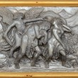 Christ silver carve art — Stock Photo