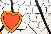 Kalp boyalı soyut — Stok fotoğraf