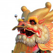 Head of a golden dragon — Stock Photo