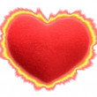 Spark Red heart — Stock Photo