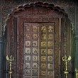 Hindu wooden door — Stock Photo