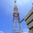 Mobile phone communication antenna tower — Stock Photo