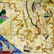 Old nautical chart. — Stock Photo