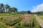 Ho kham luang in the international horticultural exposition — Stock Photo