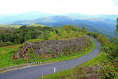 Road Curves on a mountain, Inthanon Chiang Mai, Thailand — Foto Stock