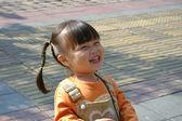 幸せ liitle 少女の肖像画 — ストック写真