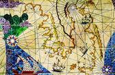 Old nautical chart. — Stock Photo