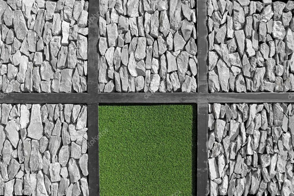Moderne kunst muur gras en steen textuur stockfoto actionbleem 28761247 - Modern muur steen ...