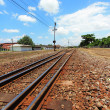 Railway crossroad — Stock Photo