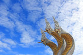 3 head great Naga under the blue sky — Stock Photo