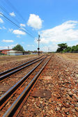 Railway crossroad — Stock Photo