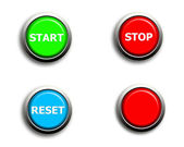 Start stop reset and blank buttons — Stock Photo