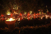 CHIANG MAI THAILAND-FEBRUARY 14 : Vesak Day.Traditional buddhist — Stockfoto