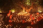 CHIANG MAI THAILAND-FEBRUARY 14 : Vesak Day.Traditional buddhist — Stock Photo