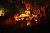 蒋清迈泰国二月 14: 卫塞节 Day.Traditional 佛教 — 图库照片