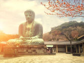 Famous Great Buddha bronze statue in Kamakura, Kotokuin Temple. — Stock Photo