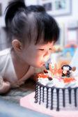 Little girl happy birthday  — Stock Photo