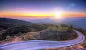 Doi Inthanon National park at sunrise Chiang Mai Thailand — Stock Photo
