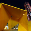 "Stock Photo: ""Vault"" sculpture by Night"