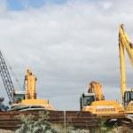 Cranes in Yard — Stock Photo #13774656