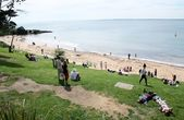 Beach at Cowes — Stock Photo