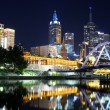 Melbourne's Southbank Precinct by Night — Stock Photo