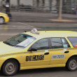 Taxi cabs in Melbourne C.B.D — Stock Photo