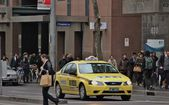 Taxi cabs in Melbourne C.B.D. — Stock Photo