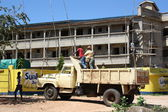 Tipper trucks. Kenya — Stock Photo