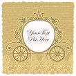 Carriage wedding invitation design — Vetorial Stock #12212641