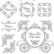 Set vintage vector ornaments - Stok Vektör