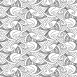 Vector editable and scalable seamless fish pattern — Stock Vector