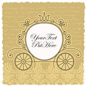Carriage wedding invitation design — Cтоковый вектор