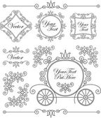 Set vintage vector adornos — Vector de stock