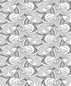 Vector editable and scalable seamless fish pattern — Cтоковый вектор