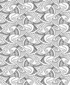 矢量可编辑和可缩放的无缝鱼花纹 — 图库矢量图片