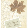 Romantic card with geranium — Imagen vectorial