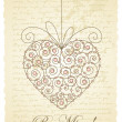 Romantic card with heart — Stock Vector