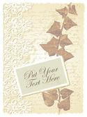 Romantic card with ivy — Vettoriale Stock