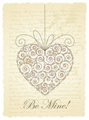 Romantic card with heart — Vector de stock