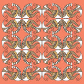 Vector fish pattern — Stock Vector