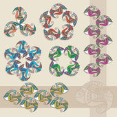 Decoratieve vissen elementen — Stockvector