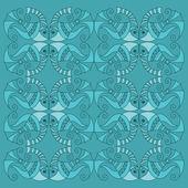 Vector fish pattern — Stock Vector