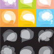 Vector bubbles for speech — Stock Vector